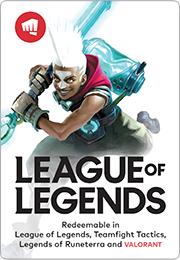 League of Legends Game Card Australia