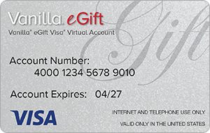 Vanilla eGift Visa® Virtual Account